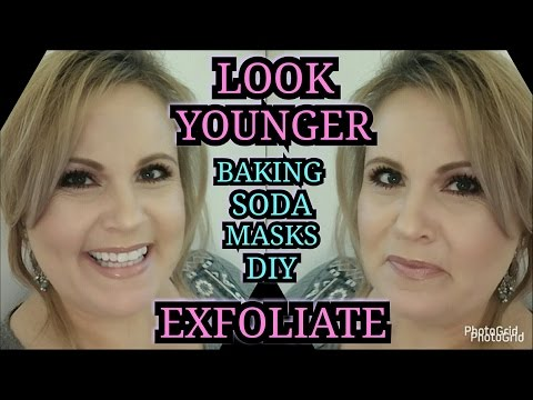 LOOK YOUNGER Try Baking Soda Exfoliating Masks Anti-Aging for Mature Skin DIY | OVER 40 SKINCARE
