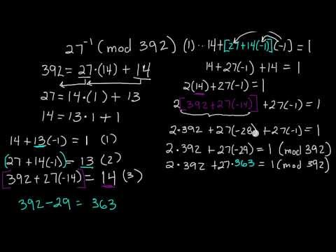 How To Find The Inverse of a Number ( mod n ) - Inverses of Modular Arithmetic - Example