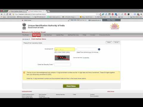 How to check your aadhar card status online