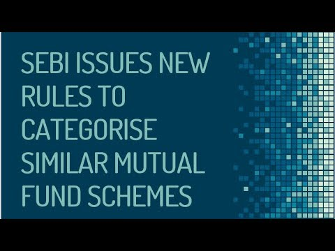 SEBI ANNOUNCES 5 CATEGORIES FOR MUTUAL FUNDS ||1 SCHEME FOR 1 CATEGORY