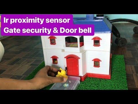how to make IR proximity sensor   Door Security System    Touch less Door Bell