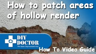Repairing and patching rendered walls