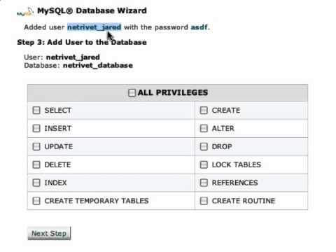 Setting up a MySQL Database for WordPress