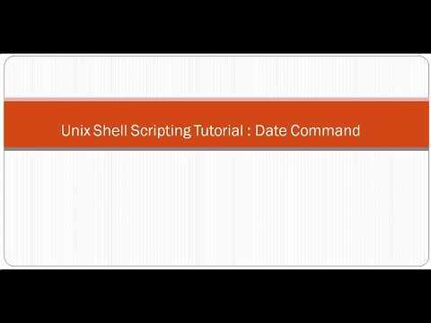 Unix Shell Scripting Tutorial  Date Command