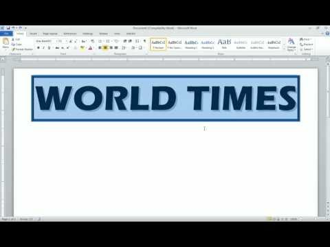 Word 2010 Newspaper Project Newspaper Name