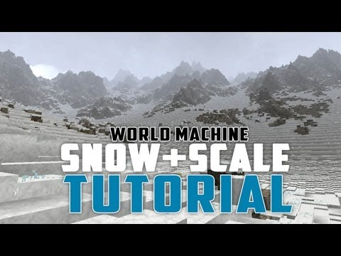 Minecraft - Smooth snow - Better mountains - Better scale