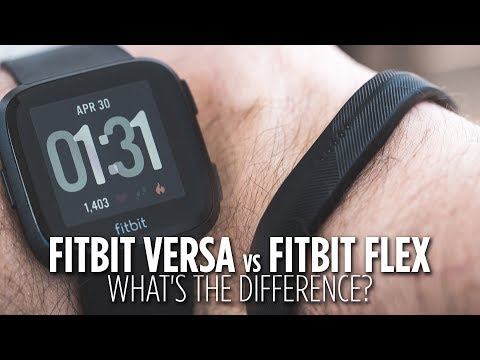 Fitbit Versa vs Fitbit Flex: What's the difference?