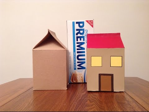 How to make a house from a cracker box