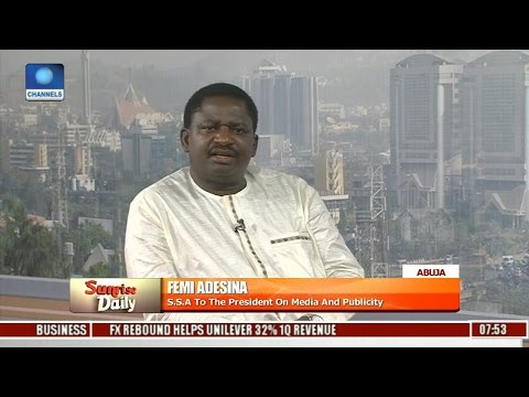 Fight Against Corruption: There Is Corruption Everywhere In Nigeria -- Femi Adesina Pt. 1