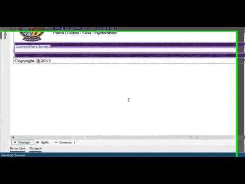 Master Page in Visual Studio 2012