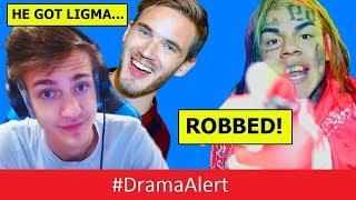 PewDiePie REACTS to Ninja LIGMA Diagnosis! #DramaAlert 6ix9ine ROBBED and ASSAULTED! Deji SUED!