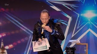 Britain's Got Talent 2020 Håkan Berg's Hilarious Magic Act Full Audition S14E06