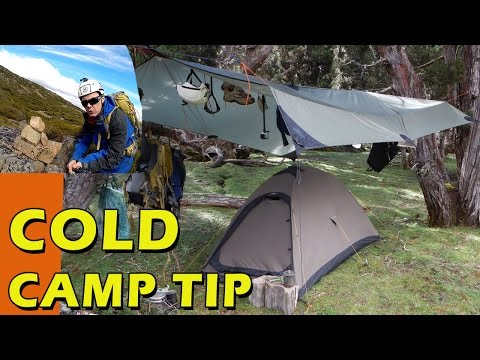 Cheap Winter Camping Tip, Keeping Warm inside your Tent