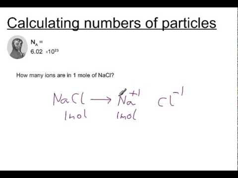 Calculating numbers of particles