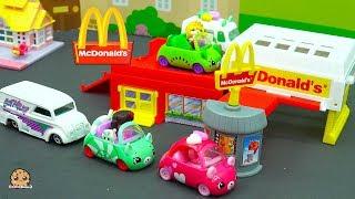 Shopkins Cutie Cars Order Food Through McDonalds Drive Thru with My Mini MixieQ