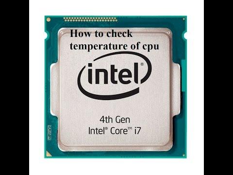 How to check temperature of cpu/Your Computer Processor (CPU)/cpu core temperature monitor