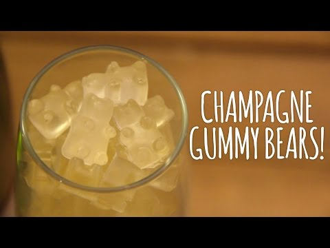 Champagne Gummy Bears + Etched Glassware | Gift Guide #1!