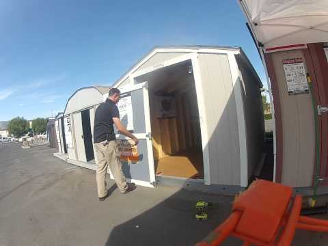 How an ASM can re-hang a Tuff Shed door.