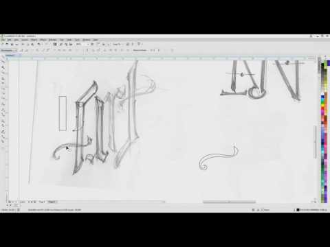 ambigram design from sketch to vector