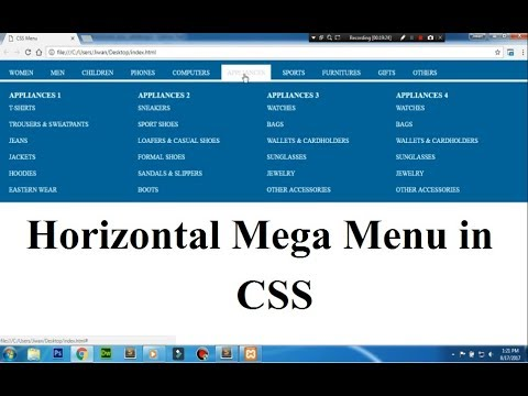 CSS Tutorial On Horizontal Mega Menu - A Complete Guide