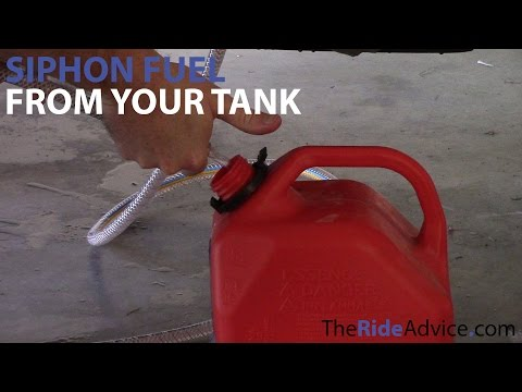 How to Siphon Fuel From Your Tank - Siphon Petrol From Your Motorcycle Tank