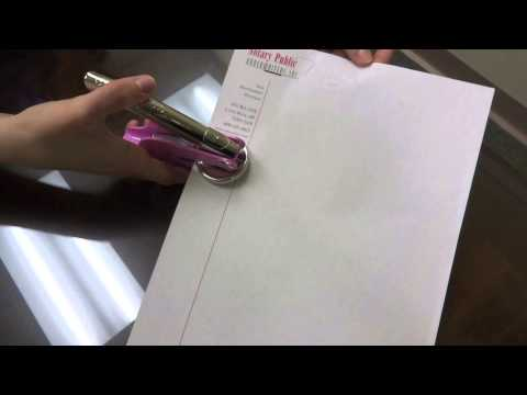 How to Use Your Hand-held Notary Embosser