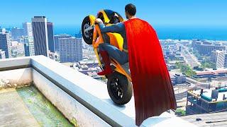 GTA 5 Superman Epic Jumps ( Super-Man Stunts & Fails )