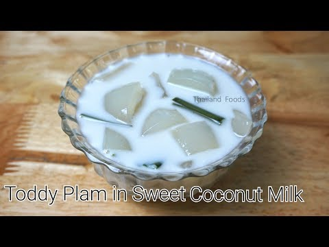 Thai Dessert | Toddy Plam Seed in Sweet Coconut Milk