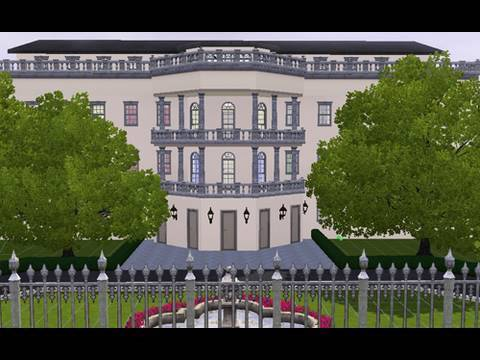 Building the White House in the Sims 3