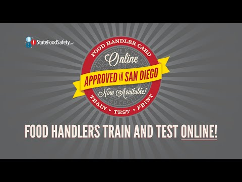 Online Food Handler Training and Testing Approved in San Diego County