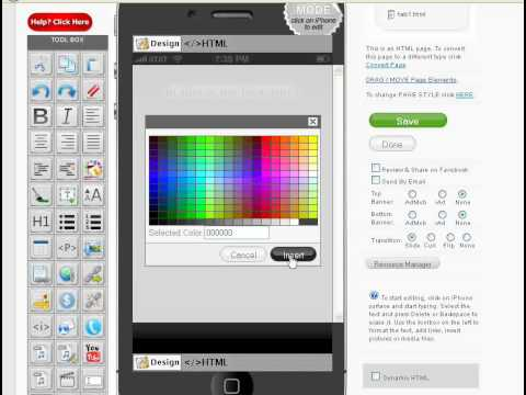 How Change Font Color appomaker