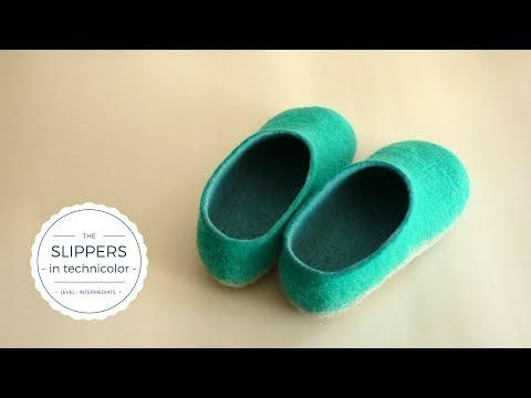 Felt slippers - Tutorial introduction