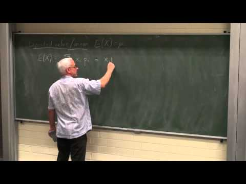 Random variables, means, variance and standard deviations | Probability and Statistics