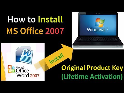 Install MS Office 2007 with Original Product Key (Lifetime Activation)