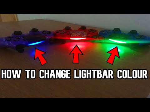 How To Change The Light Bar Colour On Your PS4 Controller *EASY*