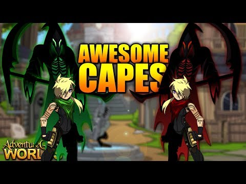 AQW ~ 2 Awesome Free AC Non Member Capes AdventureQuest Worlds