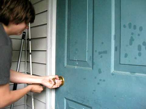 how to open a door without a lockpick