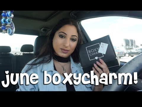 June BOXYCHARM Unboxing...IN MY CAR!