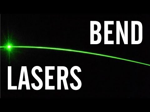 How to Bend a Laser Beam