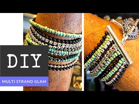 How To Make A Multi Strand Glam Bracelet With The Bead Place