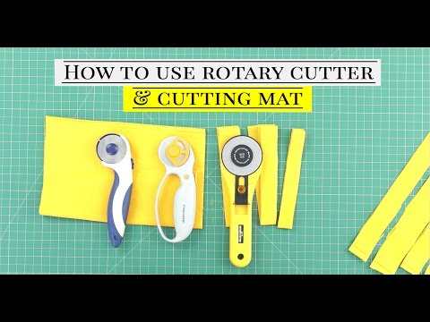 Class 44: How to use Rotary cutter and Self healing Cutting mat