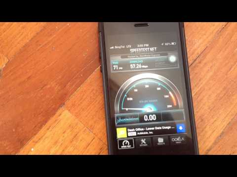 iPhone 5 Speed Test on SingTel's 4G LTE network in Singapore