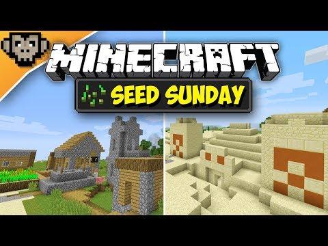 Minecraft 1.12.2 | Double Desert Temple + Village | Seed Sunday - Ep257