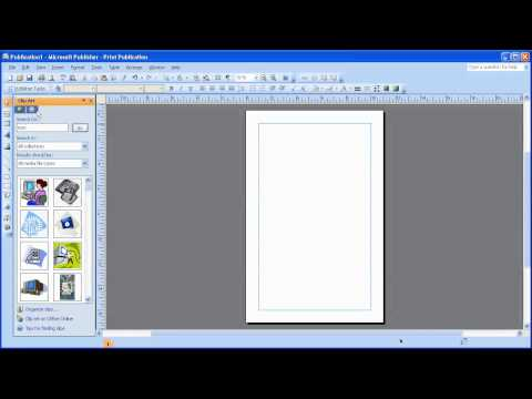 insert clipart in MS Publisher 2007