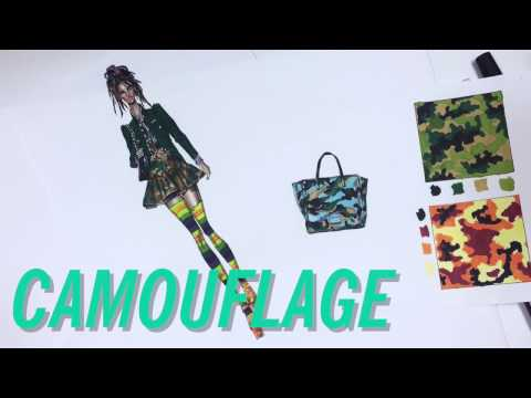 HOW TO DRAW CAMOUFLAGE PATTERN | Fashion Drawing