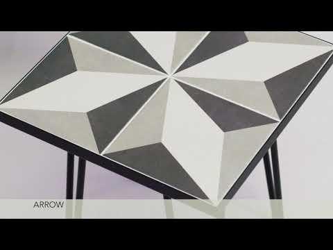 Arrow Coffee & Side tables - ceramic tiles