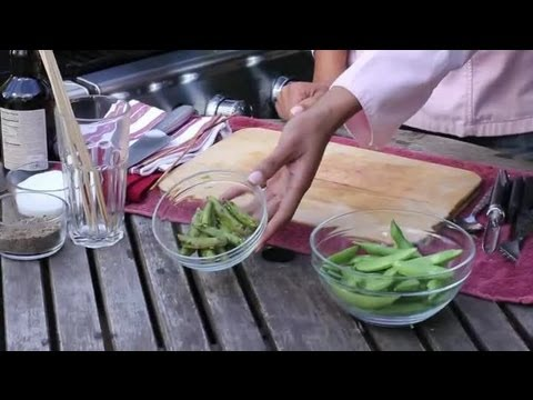 Snap Peas on the Grill : BBQ Grilling Tips
