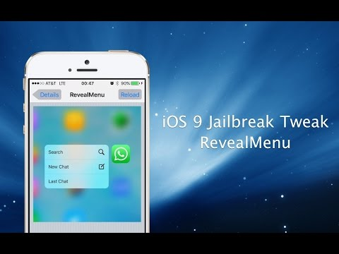 RevealMenu Hands-on: Tweak enables 3D Touch-style Quick Actions on older iOS 9 devices