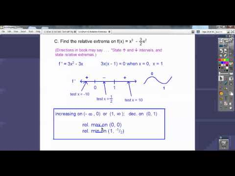 Relative Extrema - 1st Derivative Test - Section 3.3 (Part 1)