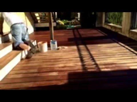 Staining IPE Deck.